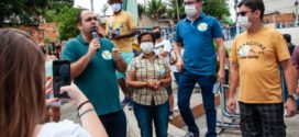 Secretário estadual de Infraestrutura e Obras participa de corpo a corpo de Ednardo e Sediene
