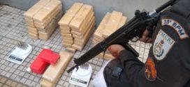 PM detêm trio com 50 quilos de maconha em Volta Redonda