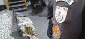 PMsapreendem arma após serem recebidos a tiros em Resende