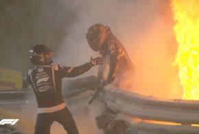 Acidente impressionante com Grosjean interrompe o GP do Bahrein de Fórmula 1