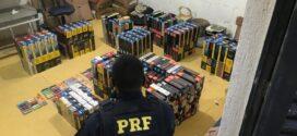 PRF recupera em Nova Iguaçu carga decigarros roubada em Barra Mansa