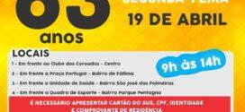 Vacinação da primeira dose em idosos de 63 anos é mantida nesta segunda-feira em Valença