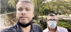 Paulo da Gráfica visita obras com Rodrigo Drable