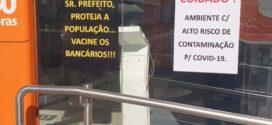 Sindicato dos Bancários da região pede prioridade na vacinação contra a Covid-19