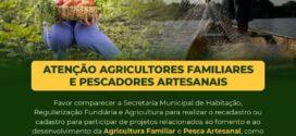 Pescadores e agricultores de Itatiaia são convocados para realizarem recadastramento