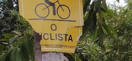 Placas de sinalização da ciclovia de Valença sofre ações de vandalismo