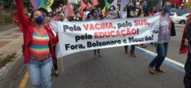 Lideranças fazem ato em Volta Redonda contra Bolsonaro