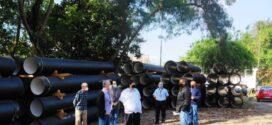 Volta Redonda recebe parte de tubulação para obra na rede de água da Beira-Rio