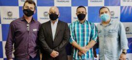 Bruno Paciello e vereador Mamede se reúnem com novo secretário de Estado de Trabalho e Renda