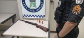 Espingarda municiada é apreendida pela PM em Paraíba do Sul