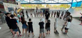 Professores de skate promovem comemoração pelo Dia das Crianças na pista do Tiradentes, em Volta Redonda